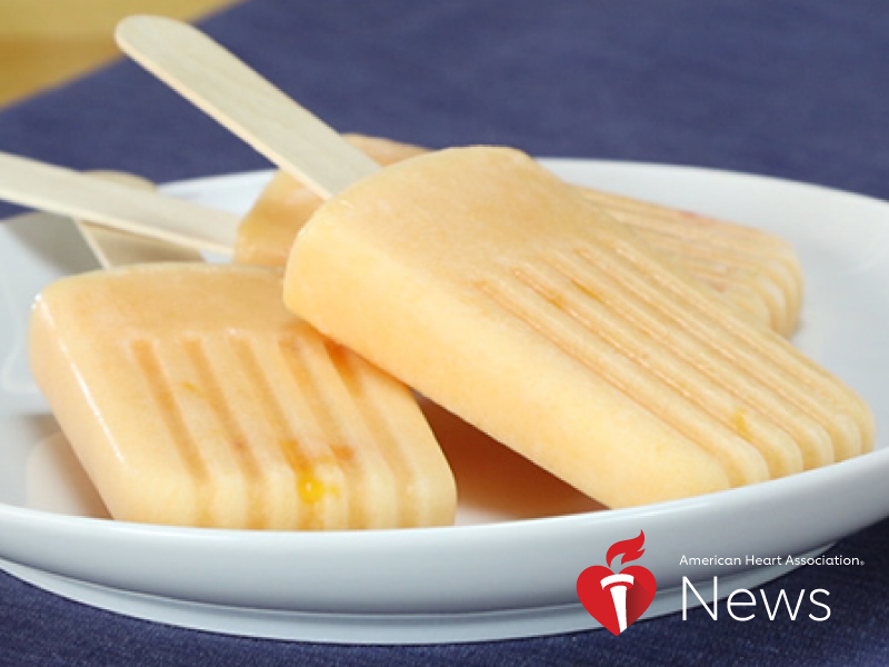 News Picture: AHA News: A Healthier Frozen Treat for Hot Summer Days